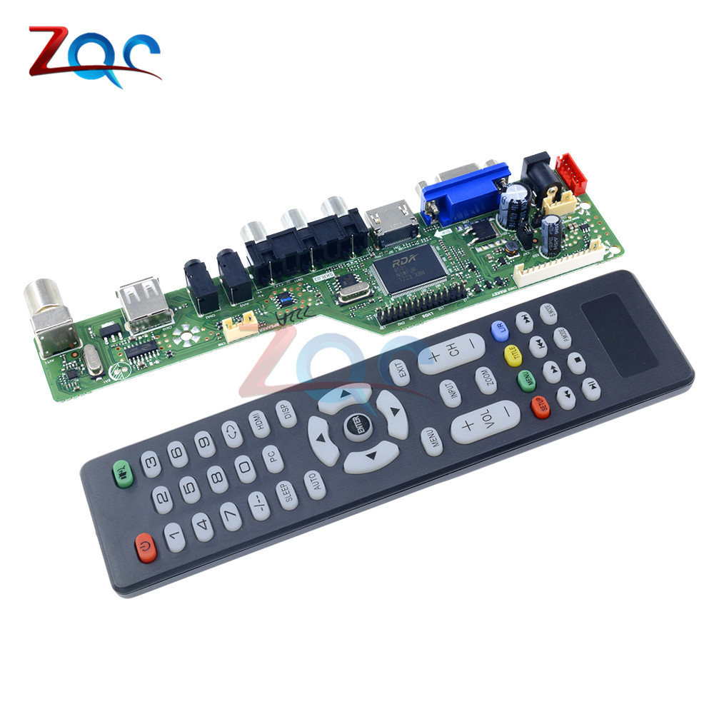 New Universal LCD Controller Board Resolution TV Motherboard VGA/HDMI/AV/TV/USB HDMI Interface Driver Board tv driver board hx v29 39 l