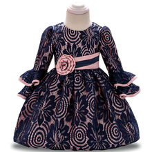 Baby Dresses Autumn Winter Todder Girls Long Sleeve Lace Princess Dress Girls Infant Party Dresses 1 2 Year Birthday Dress baby girl winter princess dresses vintage red lace long sleeve new year costumes dresses christmas evening party birthday dress