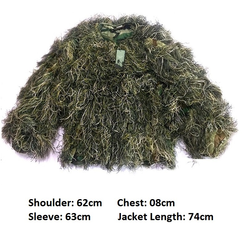 5pcs set Camouflage Ghillie Suit Yowie Sniper Tactical Clothes Camo Suit for Hunting Paintball Ghillie Suit Men Hunting Clothes in Hunting Ghillie Suits from Sports Entertainment
