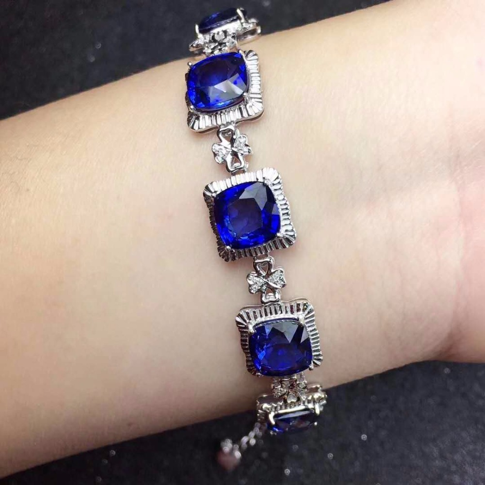 Premium Sapphire Bracelet shipped.Boutique royal blue, high purity, Symbol of loyalty, constancy, love and honesty.The main ston loyalty