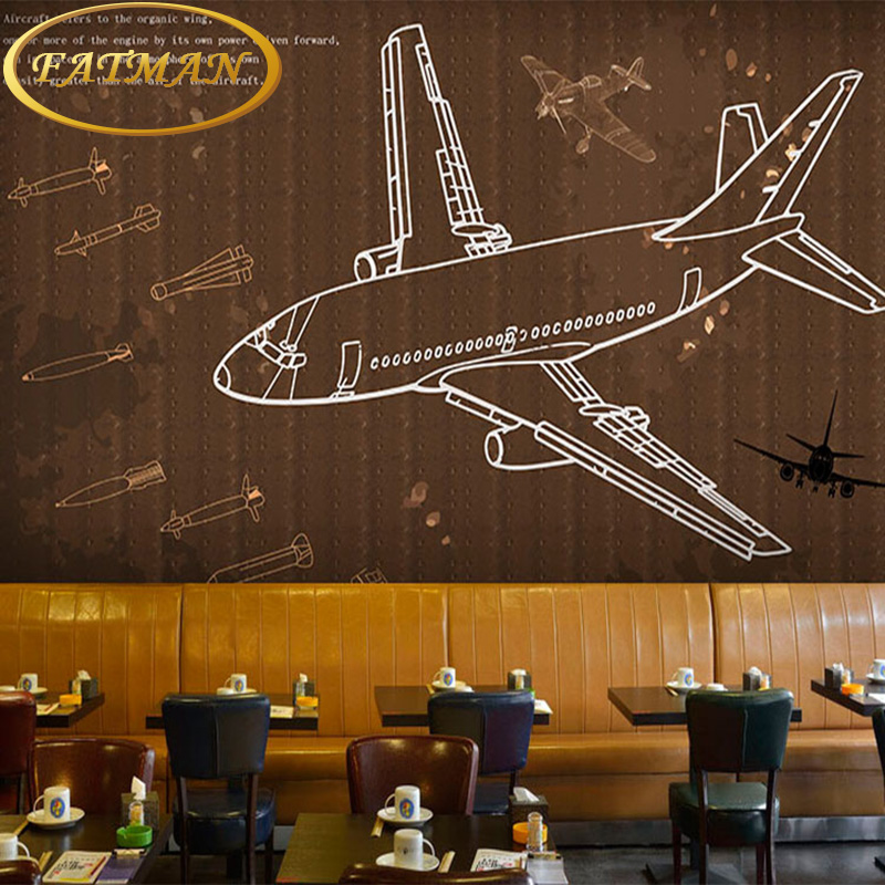 Custom photo wallpaper 3D aircraft cabin car graffiti mural living room sofa TV background wall wallpaper mural