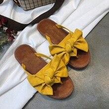 FAYUEKEY/; женские тапочки с бантиком; сандалии с бабочками; шлепанцы для дома и улицы; пляжная обувь; Новая модная женская обувь