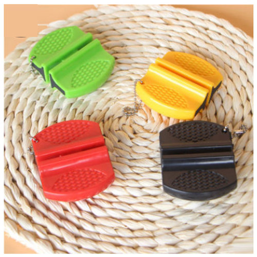 Portable Mini kitchen Knife Sharpener Kitchen Tools Accessories Creative Butterfly Type Two-stage Camping Pocket Knife Sharpener
