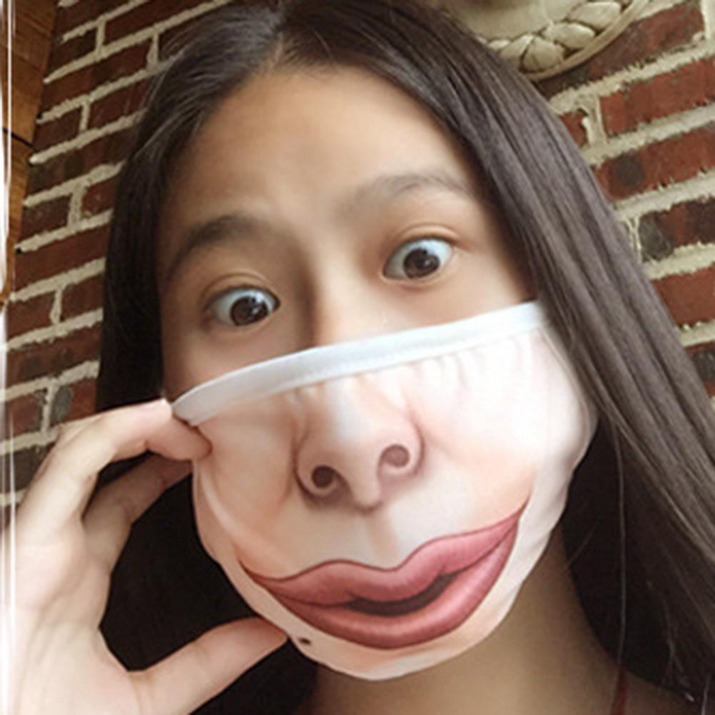 MISSKY Women Men Creative Mischievous Mouth Mask Anti-Dust Warm Face Masks
