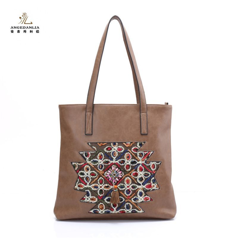 Women Embroideried Ethnic BOHO Bohemia Hippie handbag Gypsy Tote Bags Ethnic Bag summer lady beach shoulder crossbody bags 2016 summer national ethnic style embroidery bohemia design tassel beads lady s handbag meessenger bohemian shoulder bag page 5