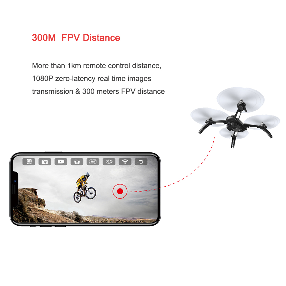 Mjx Bugs 5w 5 W Gps Rc Drone With Wifi Fpv 1080p Hd Camera Auto Syma X8 Pro Drore Return Follow Me Mode Quadcopter Vs 3 B2w B3h