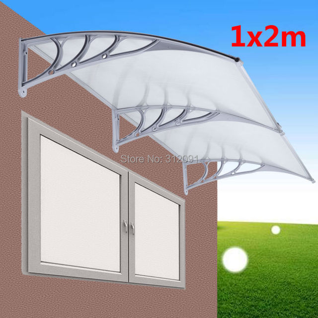 2MX1M Door Canopy Awning Shelter Front Back Porch Outdoor Canopies Cover  sc 1 st  AliExpress.com & Ship from UK ! 2MX1M Door Canopy Awning Shelter Front Back Porch ...