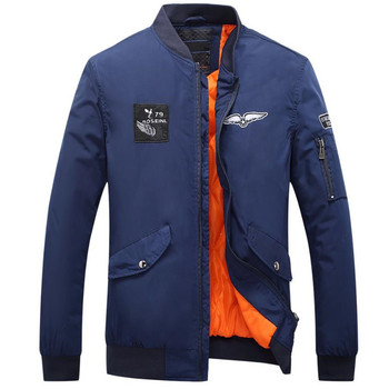 Pop Autumn And Winter Fashion Brand Men Jacket Leisure Jacket Embroidery Solid Color Coat Clothes Fashion