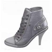 BC Schuhe Nappa/Heels Outdoor/Party & Abend/Casual Silber