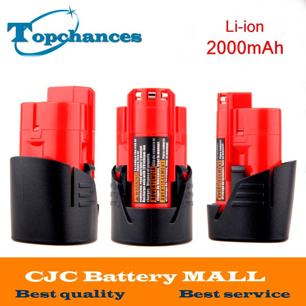 High Quality 3PCS 12V 2000mAh Li Ion Replacement font b Power b font font b Tool