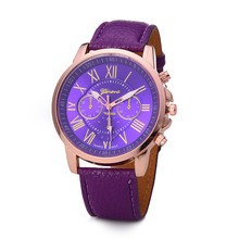 MEIBO Brand Watches Women Men Geneva Casual Mulitcolors Numeral Watch For Men Women PU Leather Quartz Wrist Watch Relogio Clock