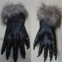A full set of head terrorist devil's dance Halloween mask Wolf gloves cosplay Wolf gloves