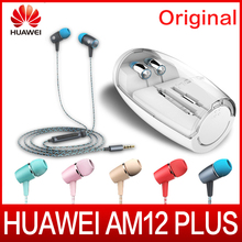 Best Buy Original Huawei Honor Engine earphones AM12 Plus with mic Three Keys Drive-By-Wire 3.5 mm Headset Jack For Huawei Honor Phones