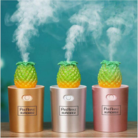 Pineapple Creative Style USB Ultrasonic Humidifier Home Office Mini Aroma Oil Diffuser LED Night Light Aromatherapy