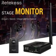 RETEKESS TA001 2.4G Digital Wireless Stage Audio in ear Monitor System 1transmitter+1receiver for band singer stage performance em2050 wireless in ear monitor system 10 ear monitoring systems wireless stage monitor system em2050 iem bodypack monitor
