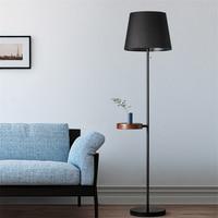 Modern LED Floor Lamps Mobile Phone Wireless USB Charging Wooden Art Living Room Bedroom LED Floor Lights Lighting Decor Fixture