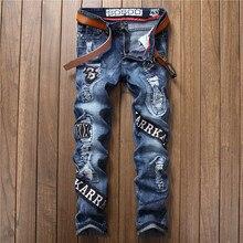 2017, модная новинка 17002, модные, рваные, ткань, самосовершенствование, прямая трубка, Мужские джинсы (29-38),