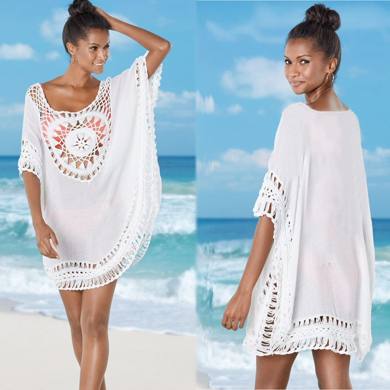 Beachwear Saida De Beach Long Outings Tunics Womens Bather Swimwear Cover Up To 2018 New Hooks Plus Slub Cloth Clothes Swimsuit купить в Москве 2019
