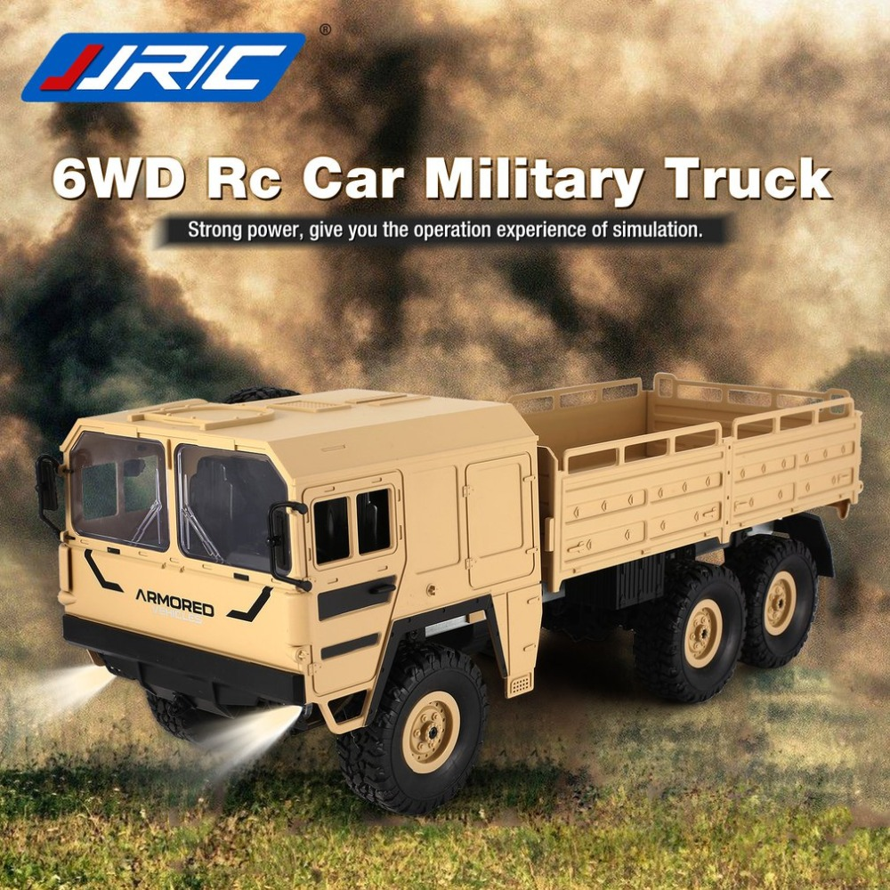 JJRC RC Q64 1/16 2.4G 6WD Rc Car Military Truck Off road Rock Crawler RTR Toy 6 Wheels Racing Toys For Children Gifts Presents