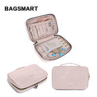 BAGSMART Women Jewelry Organizer Case Waterproof Cosmetics Bags for Jewelry Pouch Bag for Necklace,Bracelet,Earring,Ring,Watch