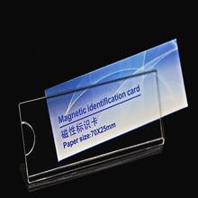 210pcs אקריליק שם תג תגי כרטיס מזהה מחזיקי תלמיד או עבודה עובד כרטיס עם סיכה או מגנט