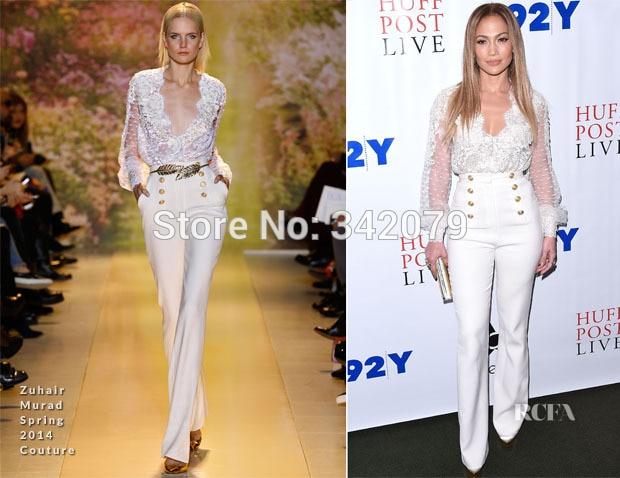 y de un ph1072 camisa Zuhair blanco Murad frente 2014 couture primavera cruzado marinero Lopez Jennifer B6wpPqUq