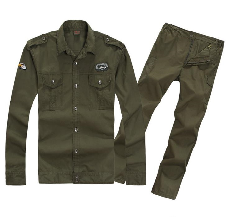 Shirts Lovely Band Of Brothers Replication Us 101 Airborne Division Mens Khaki Shirts Pure Cotton Slim Fit Shirt For Men Military Style Green