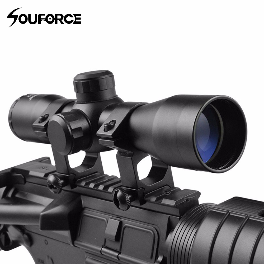 New Brand Tactical 4X32 Compact Scope Reticle Hunting Riflescopes Cross-Hair Reticle Fits 20 Mm Rail Mount
