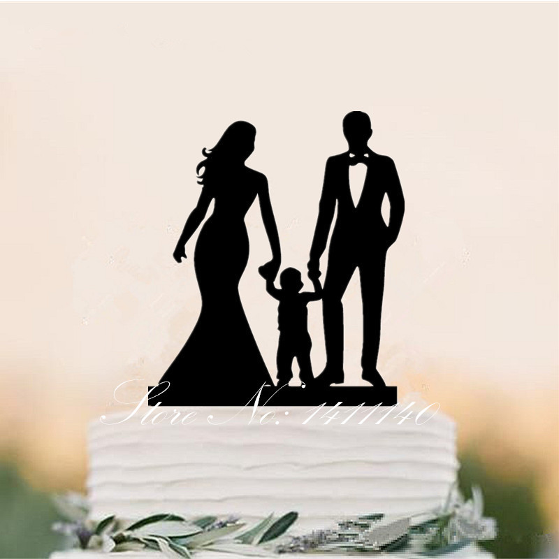 wedding cake topper couple with child happy family style amp groom wedding cake topper with 26310
