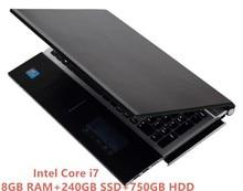 8G RAM+240GB SSD+750G HDD 15.6″1920*1080P Intel Core i7 HD Graphics 4000 Gaming Laptop Windows 10 Notebook with DVD-RW Bluetooth