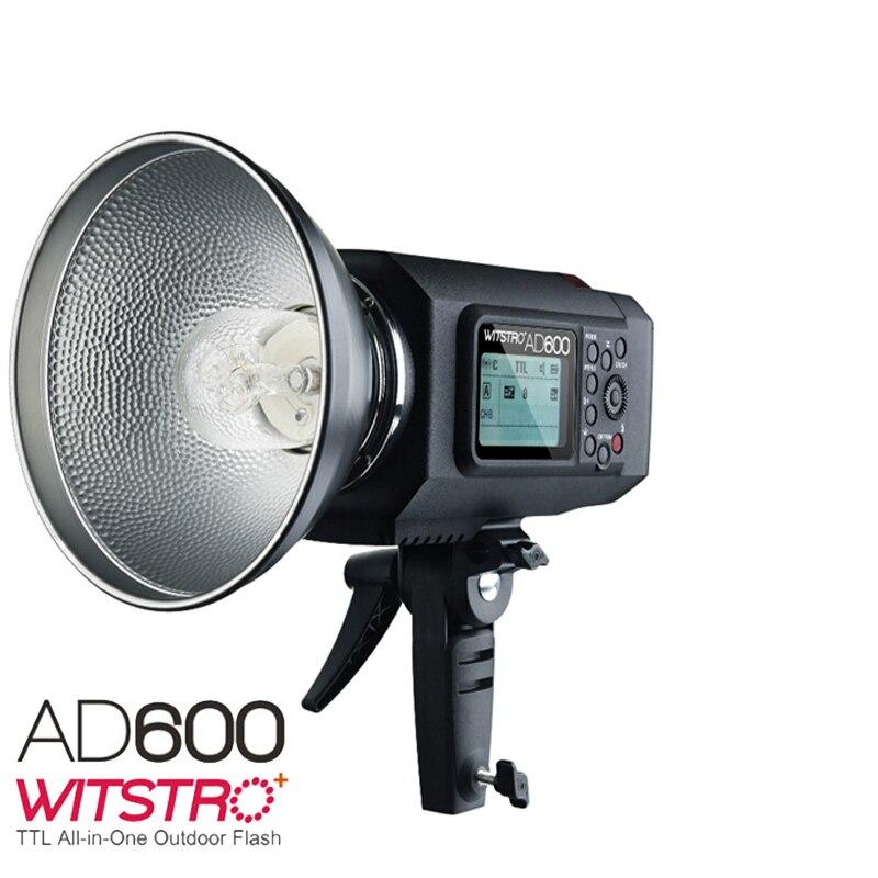 2017 Výkonný venkovní blesk Godox Wistro AD600 TTL s vestavěnou Li-on baterií s 2,4 G X systémem