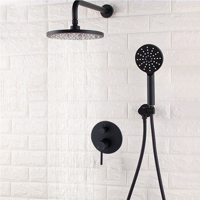Aliexpresscom Buy Black 8 Wall Mounted Bathroom Shower System