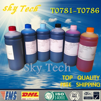 1L 6 Dye Refill Ink Suit For Epson T0781 T0786 Printing Bulk Ink Suit For Epson