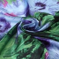 Womens Faux Silk Square Scarf Wraps Shawl Oil Painting Print Fashion Accessory