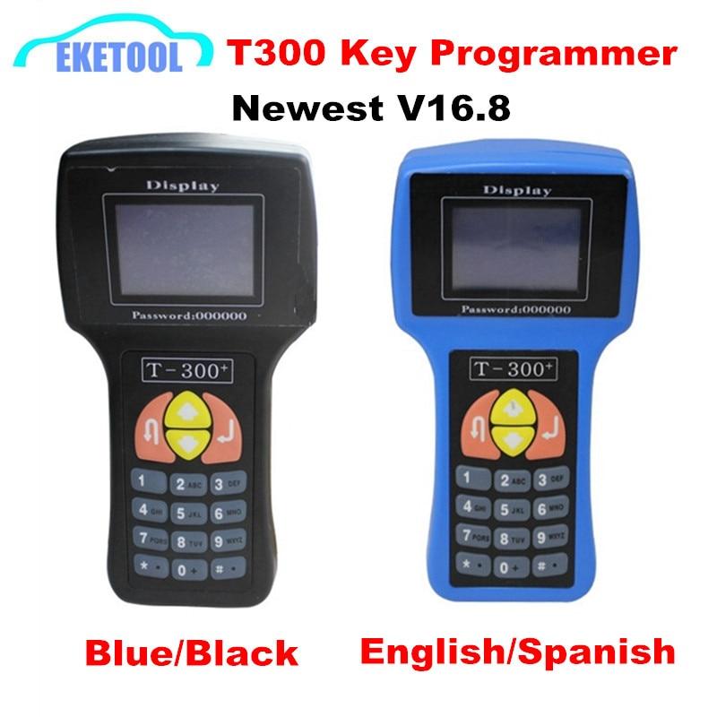 Prix pour T300 Prgrammer Clé T Code Transpondeur T-300 Bleu/Noir V16.8 Standard Anglais/Espagnol Choisir Works Multi-Marque voitures Clé