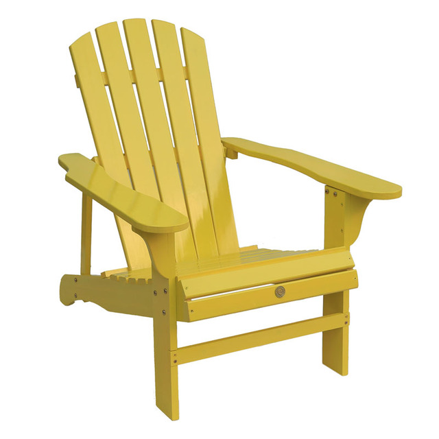 Foldable Wood Adirondack Chair For Patio, Yard, Deck, Garden Outdoor  Furniture Classic Folding