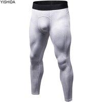 YISHIDA của Nam Giới Bodyboulding tights Mens Nén Quần chạy vớ nam Thể Thao quần chặt chẽ pantis chống fatiga gym v
