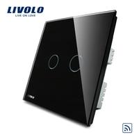 Free Shipping Livolo UK Standard VL C302R 62 Crystal Glass Panel Digital Remote Light Switch 2