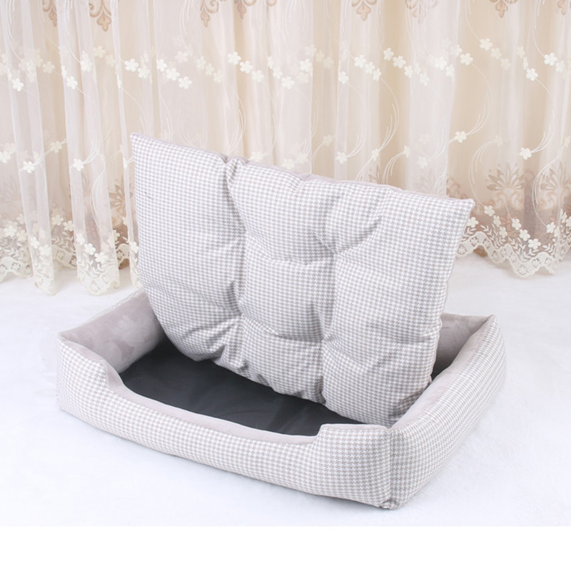 Soft Pet Dog Bed Mats House Stripped Pattern Detachable Dog Beds For Large Dogs Cats' House Pet Pad Kennels Products For Dogs #3
