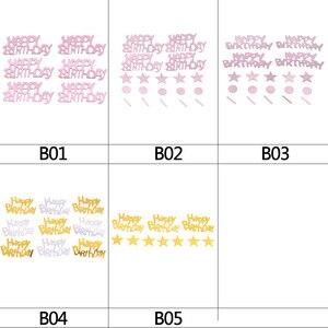 Image 5 - 1パックハッピーバースデー紙吹雪ローズゴールド手紙紙吹雪結婚式誕生日パーティーベビーシャワーバルーン装飾用品