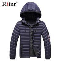 Riinr Brand Men Cotton Parkas Coats 2019 Winter Men's Casual Jackets Zipper Coat Warm Jacket Men Fashion Slim Fit Outerwear