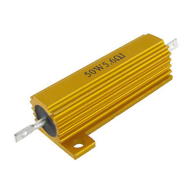 Gold Tone 50W 5.6 Ohm Aluminum Housed Wirewound Power Resistor