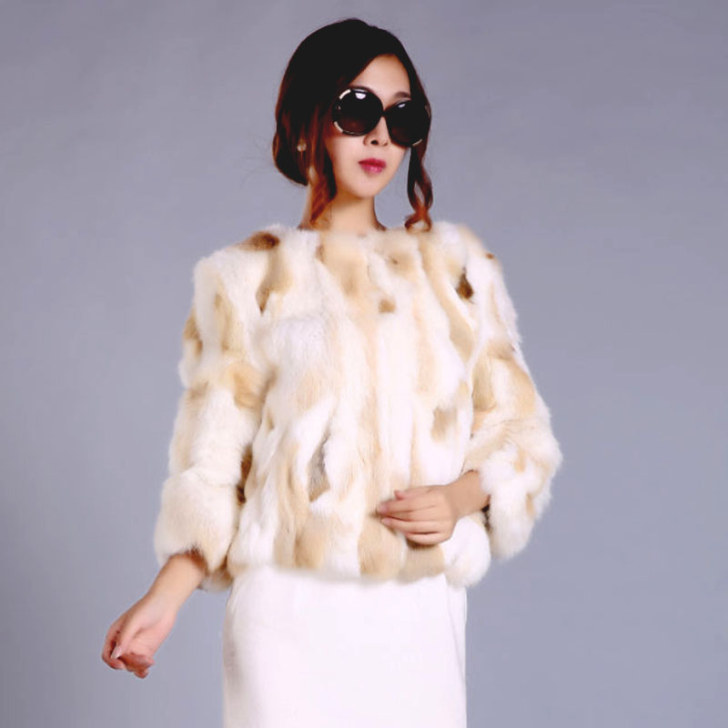 Mode Femme Fille Jaune Noir Ruidefur Gris Chaud Hiver Veste Réel Noble Fourrure De Femmes Lapin Manteau nxOAnq0v
