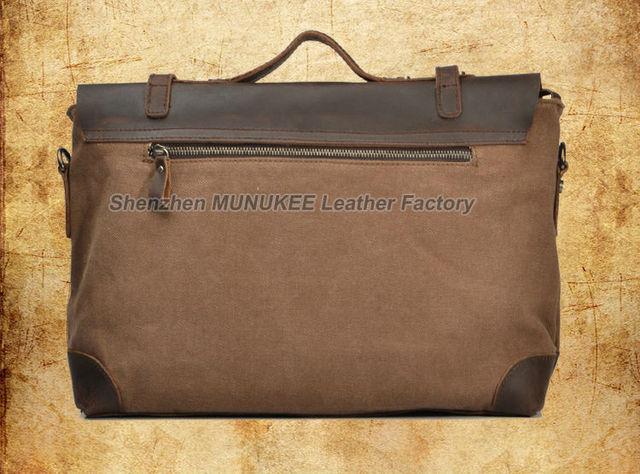 Vintage Military Canvas Leather Men Messenger Bag Men Shoulder Bag Men Bag tote Handbag Leather Briefcase Crossbody Bag Sling