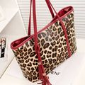 Diaper Bag  Leopard grain bag 2017new style  female bag spring summer large-capacity single shoulder bag