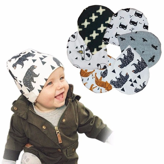 baby Beanies boy slouchy beanie Knit toddler cap warm scary baty hat Animal  design 155ce520afb5