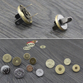100set 18mm Thin Magnetic Snaps Button (strongly magnetic) Bronze Anti Brass Silver Plated Metal Closures Button