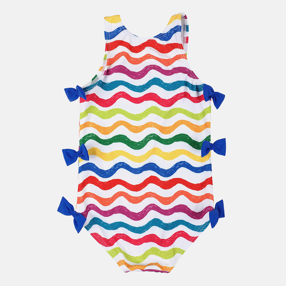 Charmo Baby Girls 39 One Piece Swimsuits Flower Printed Swimwear Kids Bow Knot Cute Bikini Beach Wear Children Wave One Piece Suit in Children 39 s One Piece Suits from Sports amp Entertainment