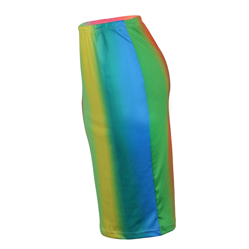 New Women Sexy Skirts Elastic Waist Package Hip Pencil Tie Dye Skirt B06SK727