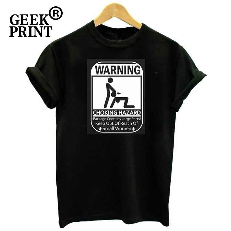 Women Tops Warning Choking Hazard Funny Lady Soft T Shirt Adult Rude Humor Mean Sex Tee Girl Tshirts